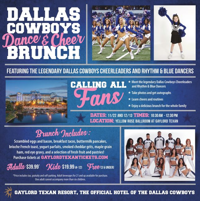 Gaylord Texan Resort Dallas Cowboys Dance and Cheer Brunch