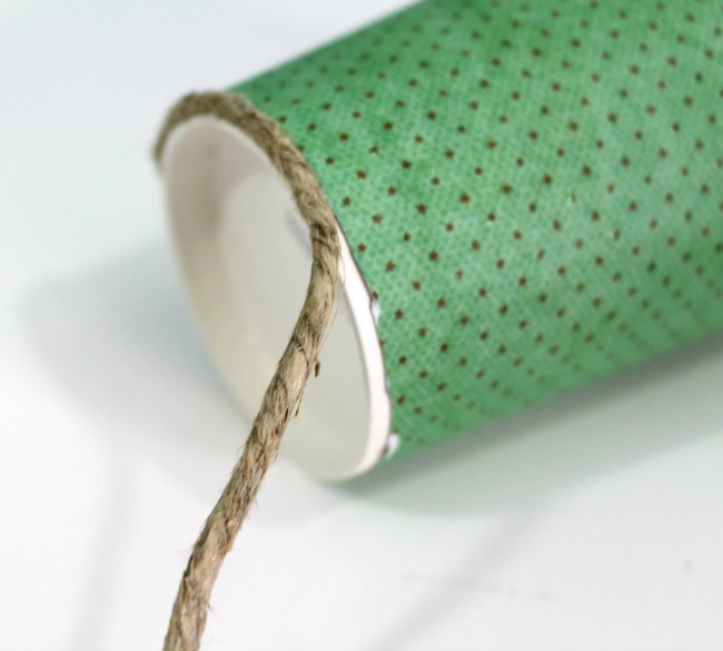 fall coffee cup add string with glue gun as seen on JennsRAQ.com