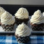 Homemade Chocolate Cupcakes with Vanilla Frosting