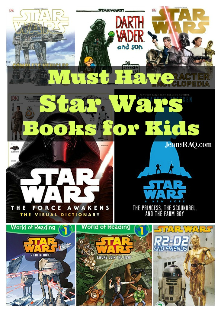 Must Have Star Wars Books for Kids as seen on JennsRAQ.com