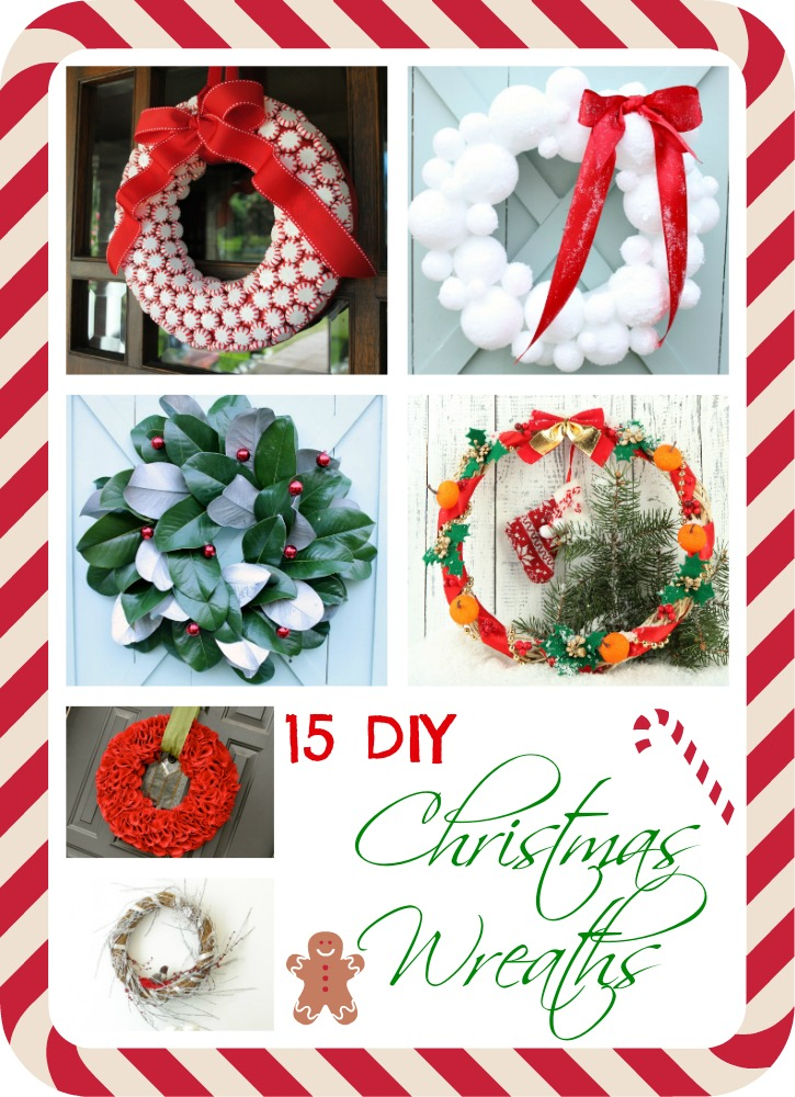 15 DIY Christmas Wreaths as seen on JennsRAQ.com