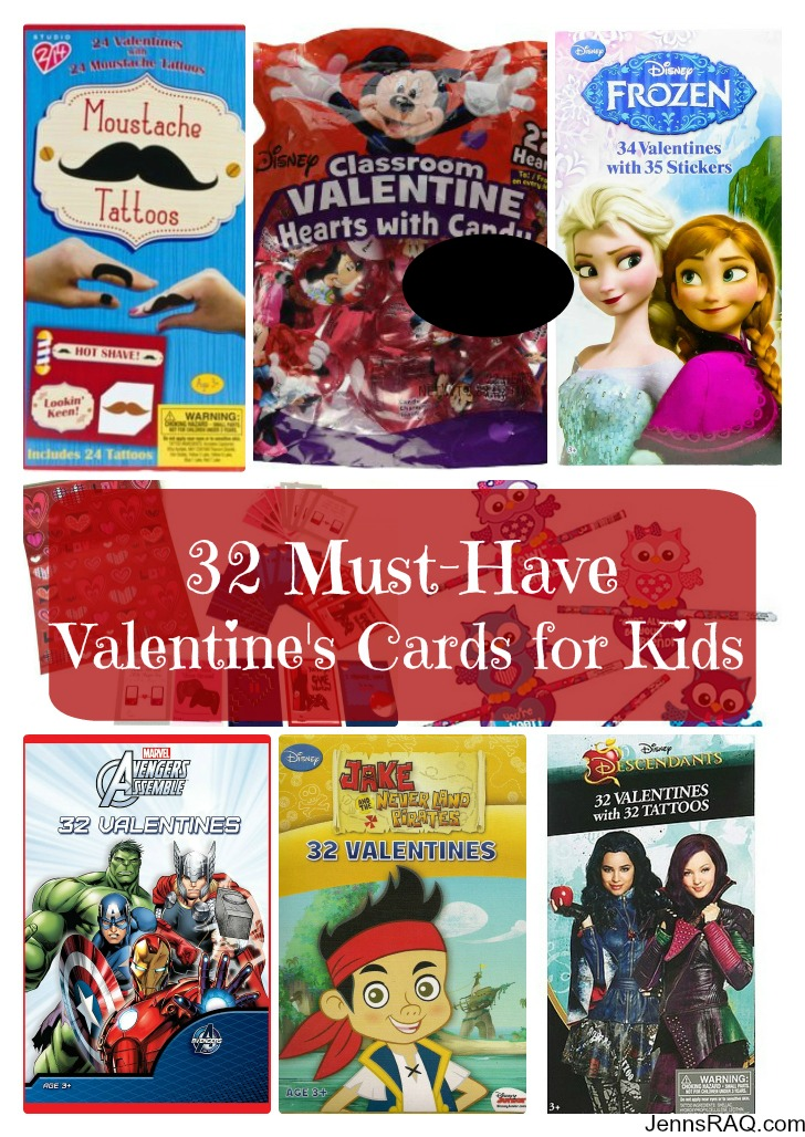 32 Must-Have Valentine's Cards for Kids as seen on JennsRAQ.com
