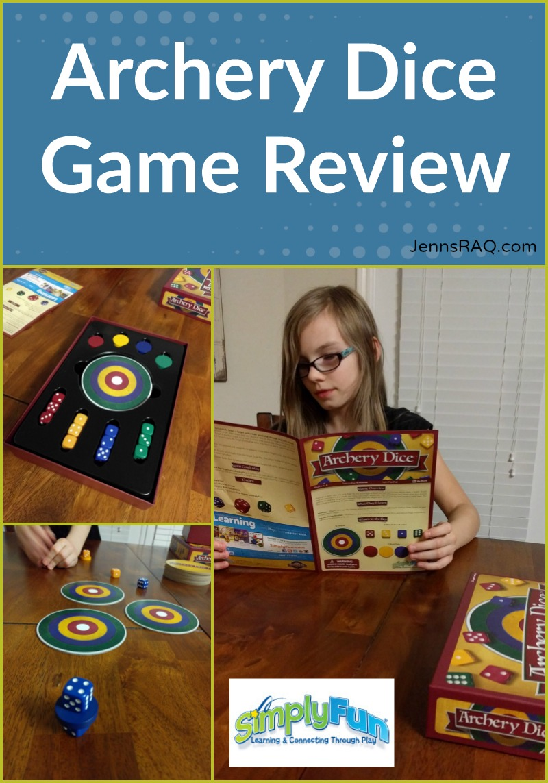 Archery Dice Game Review as seen on JennsRAQ.com