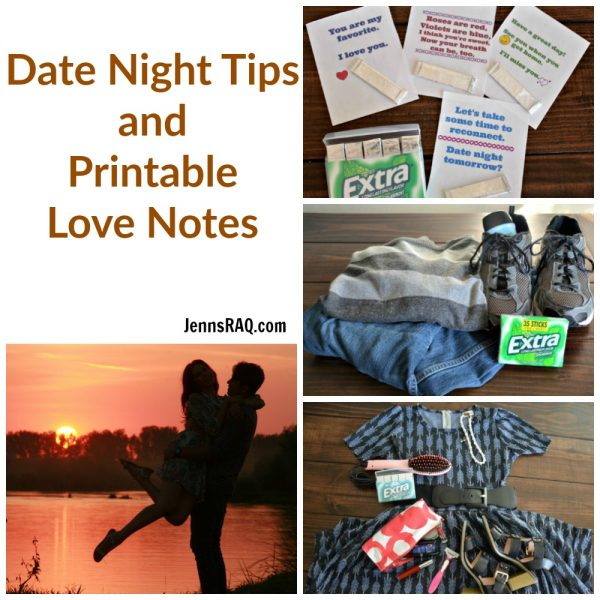 Date Night Tips and Printable Love Notes
