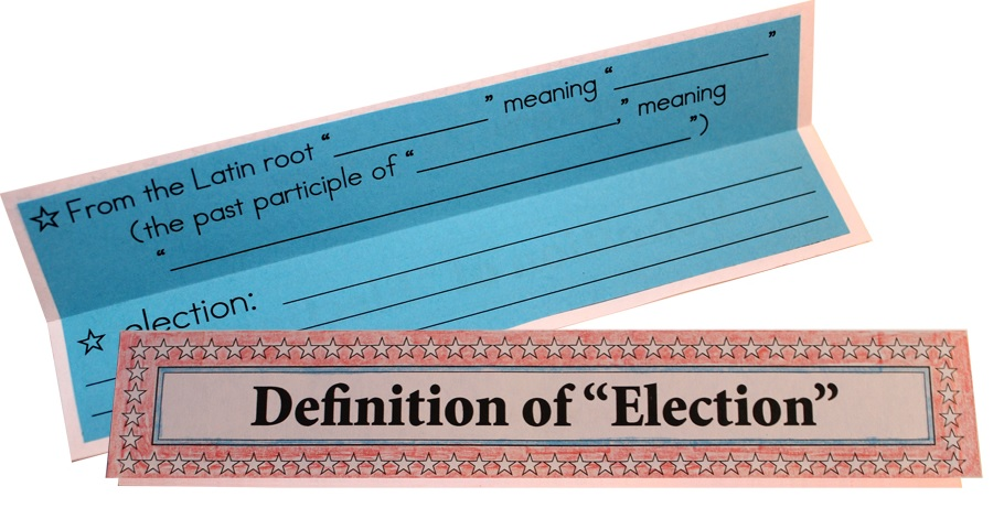 Definition of Election from the US Elections Lap-Pak from Home School in the Woods