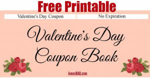 Free Printable Valentine's Day Coupon Book from JennsRAQ.com