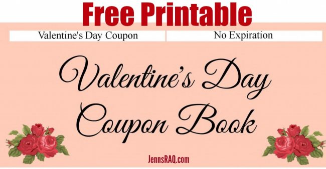Free Printable ValentineS Day Coupon Book Real And Quirky