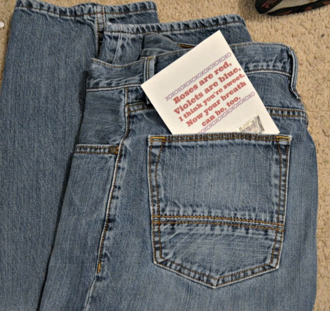 Hidden Date Night Love Note Printable in his jeans AD #GiveExtraGetExtra #Target