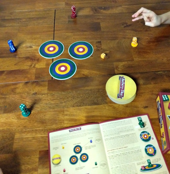 Playing Archery Dice Game Review as seen on JennsRAQ