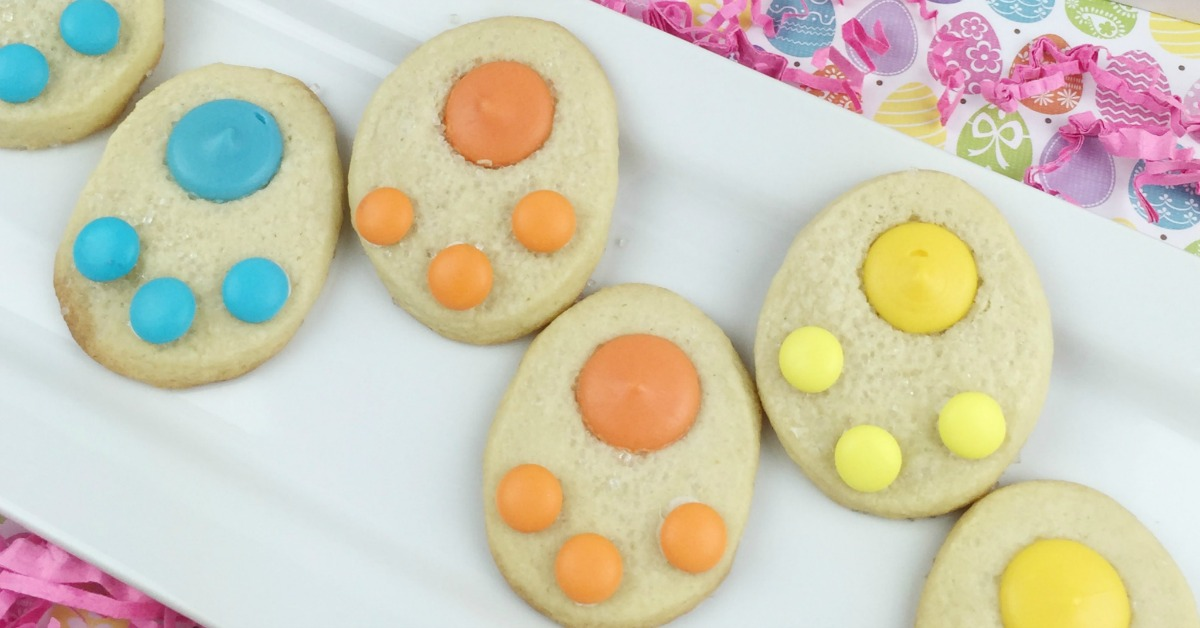 Bunny Paw Cookies are a sweet treat - as seen on jennsRAQ.com - Perfect for Easter or welcoming spring