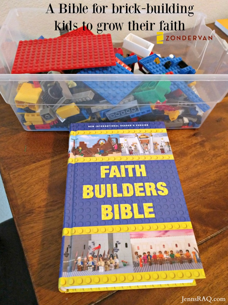 Faith Builders Bible for brick-building kids to grow their faith from Zonderkidz and Zondervan as seen on JennsRAQ.com