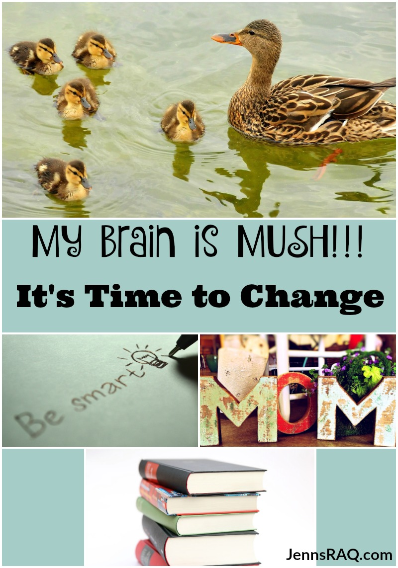 My Brain is MUSH - It's Time to Change as seen on JennsRAQ.com