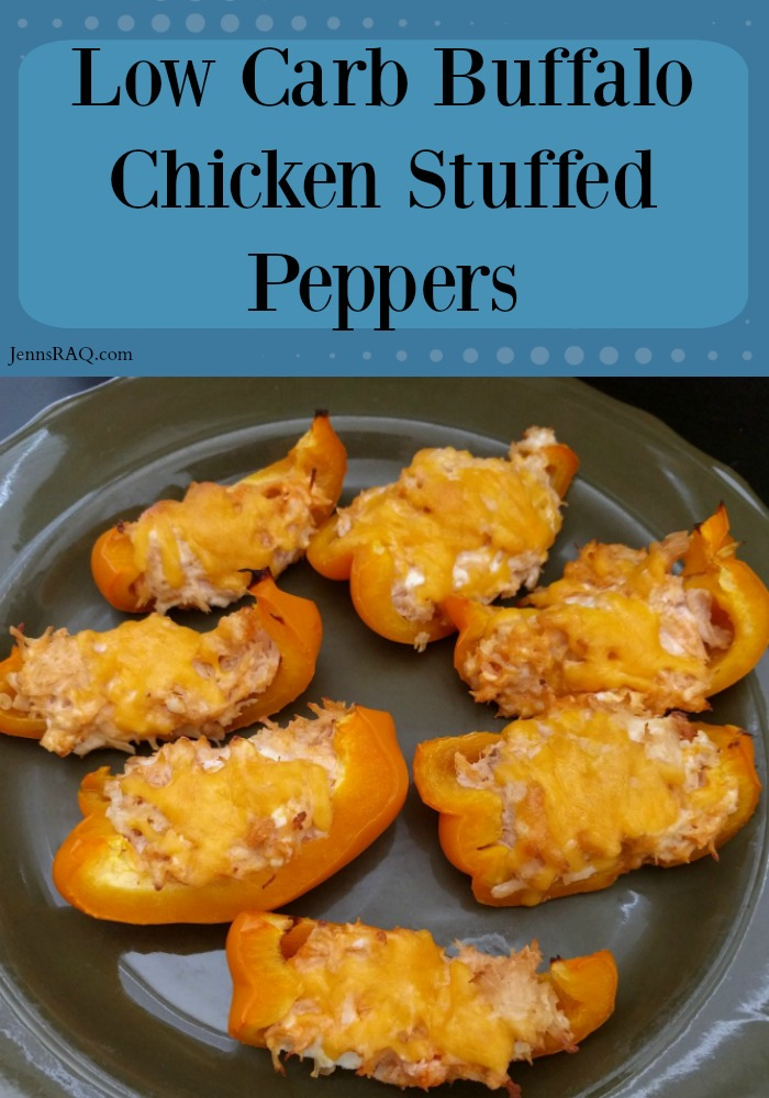Low Carb Buffalo Chicken Stuffed Peppers