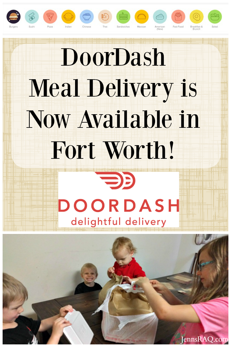 DoorDash Meal Delivery Comes to Fort Worth as seen on JennsRAQ.com