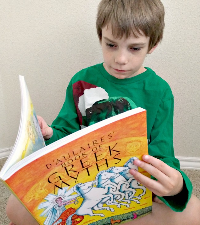 Greek Myths Study for Upper Elementary Grades from Memoria Press - Reading the book was enjoyable for the whole family
