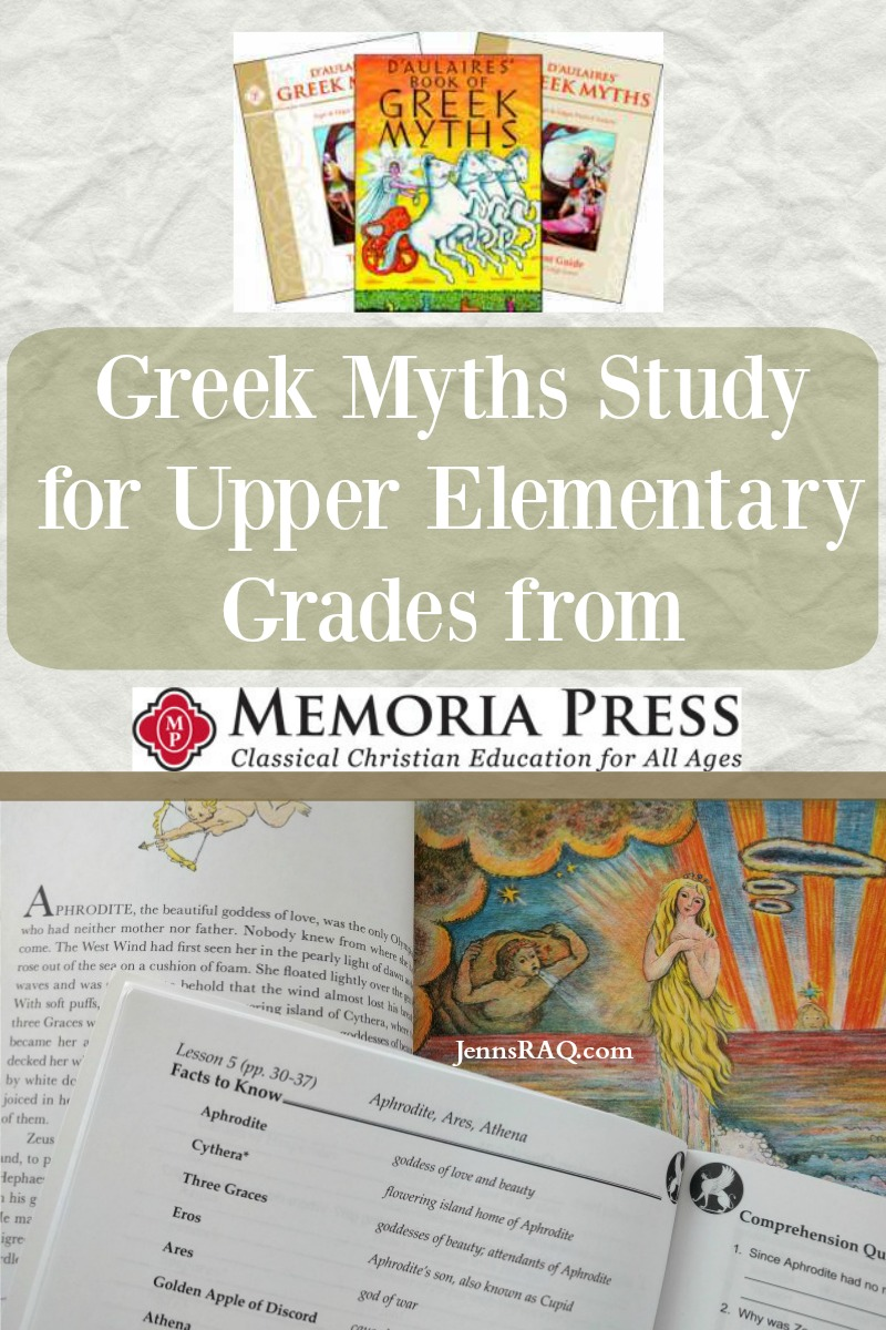 Greek Myths Study for Upper Elementary Grades from Memoria Press