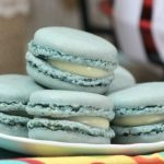Blueberry Macarons with Vanilla Filling