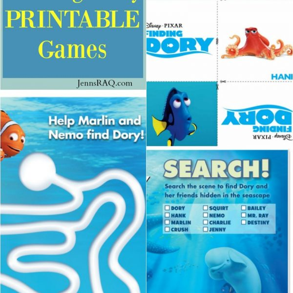 Free Finding Dory PRINTABLE Games