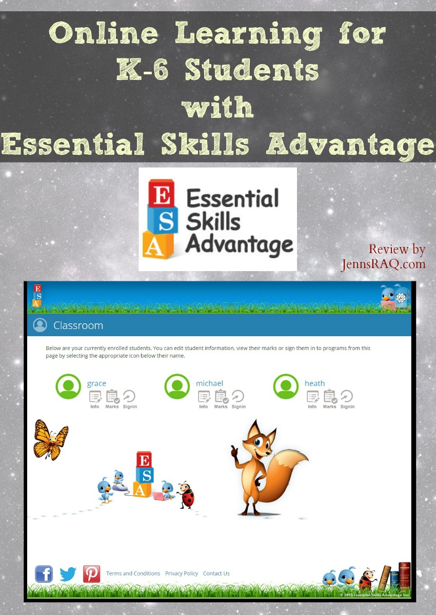Online Learning for K-6 Students with Essential Skills Advantage