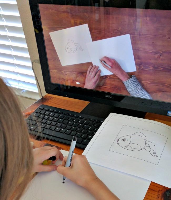 ArtAchieve Japanese Goldfish Level II Lesson