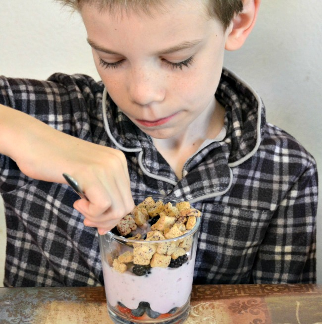 Breakfast Parfaits are easy for tweens to put together for themselves in the morning