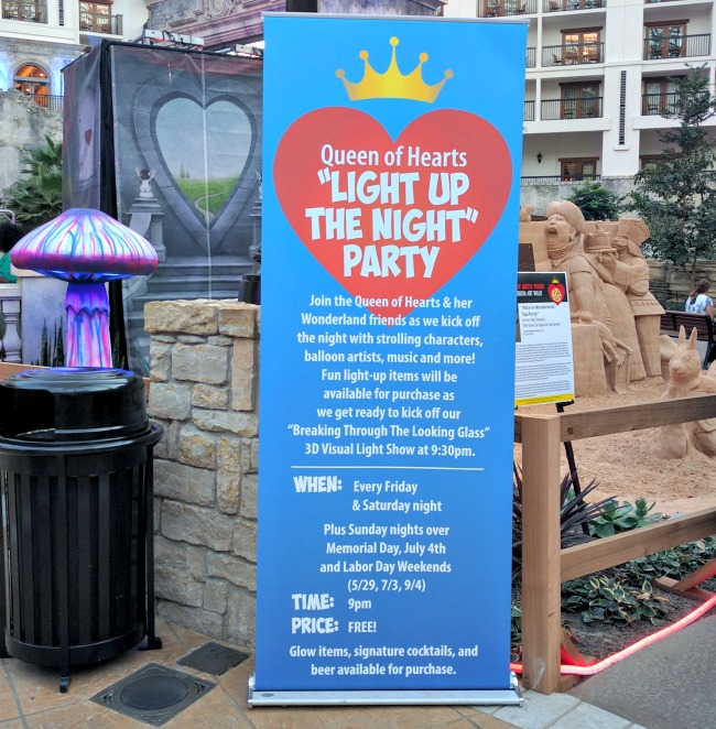 Queen of Hearts Light Up the Night Party happening at SUMMERFEST at the Gaylord Texan