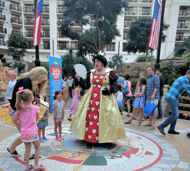 Queen of Hearts at Alices Adventures in Wonderland SUMMERFEST at Gaylord Texan