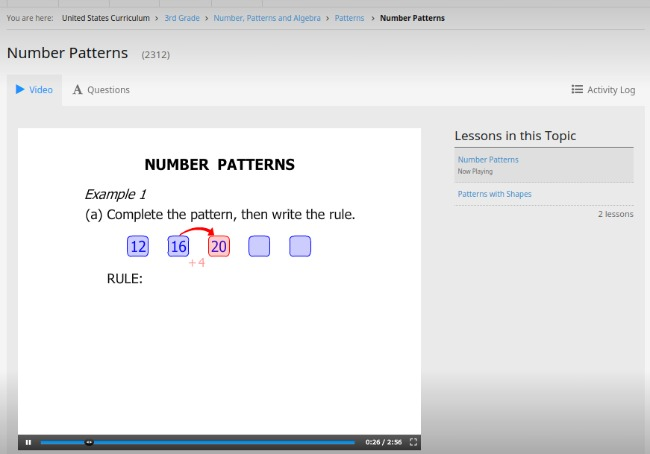 CTC Math 3rd Grade Number Patterns Video Lesson