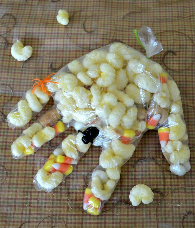 Pirate's Booty Trail Mix for Halloween or anytime and makes a yummy Halloween hand snack
