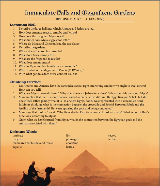 Study Guide for The Cat of Bubastes from Heirloom Audio Productions