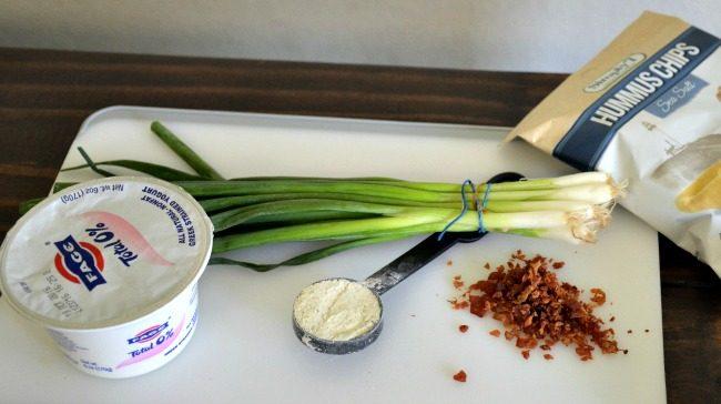 Super Easy Loaded Bacon Ranch Dip using Greek Yogurt