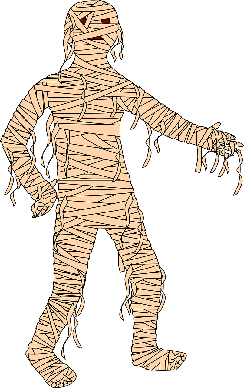 A Mummy Costume is inexpensive and a classic, fun way to look spooky for Halloween