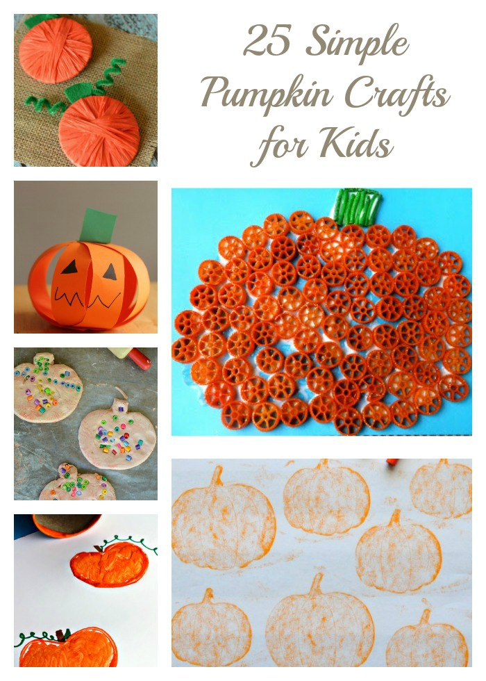 25 Easy Pumpkin Crafts for Kids - So simple and so fun