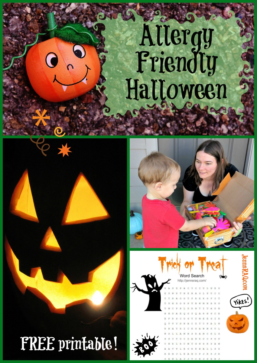 Allergy Friendly Halloween ideas with a free printable on JennsRAQ.com