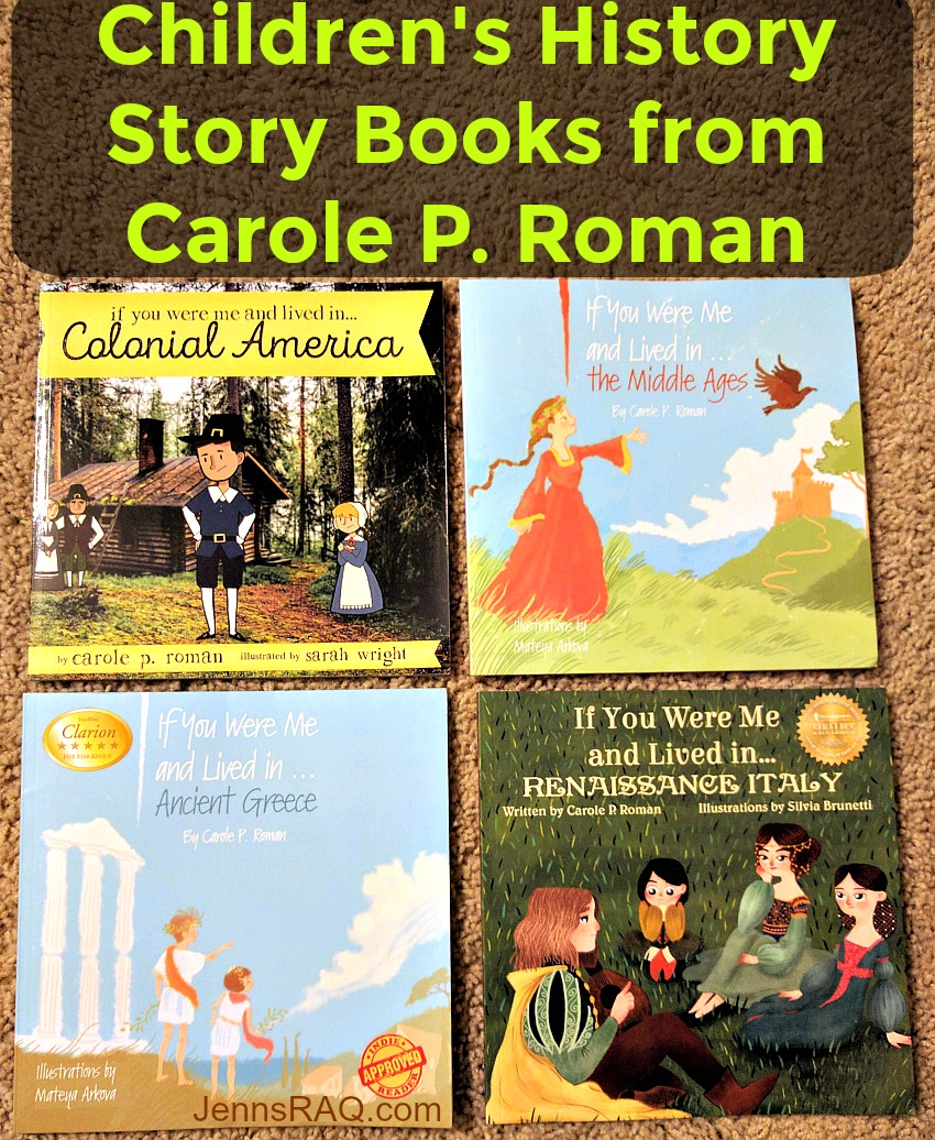 Childrens History Story Books from Carole P Roman