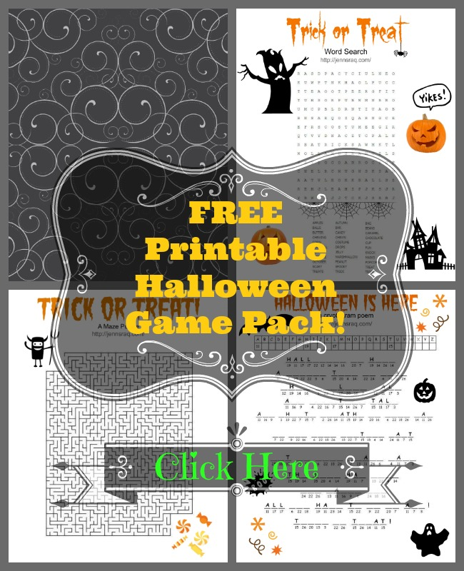 Free Printable Halloween Game Pack from JennsRAQ.com