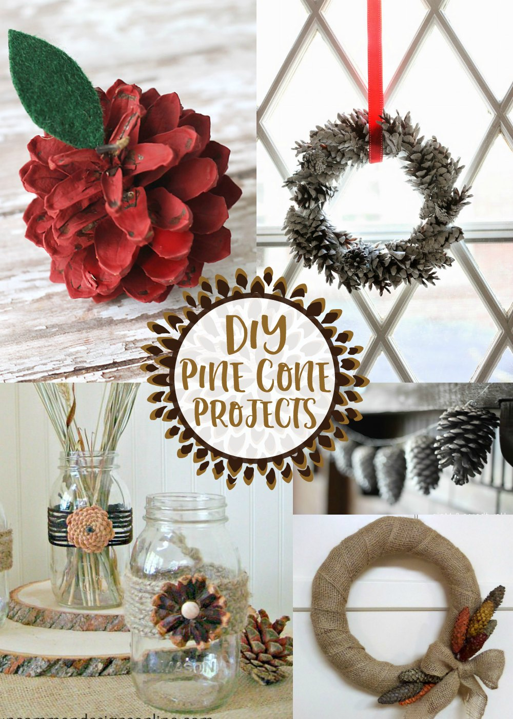 Elegant DIY Pin Cone Projects as seen on jennsRAQ.com