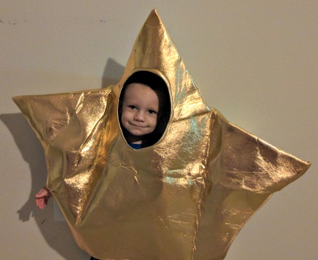 This star costume is really cute and very inexpensive