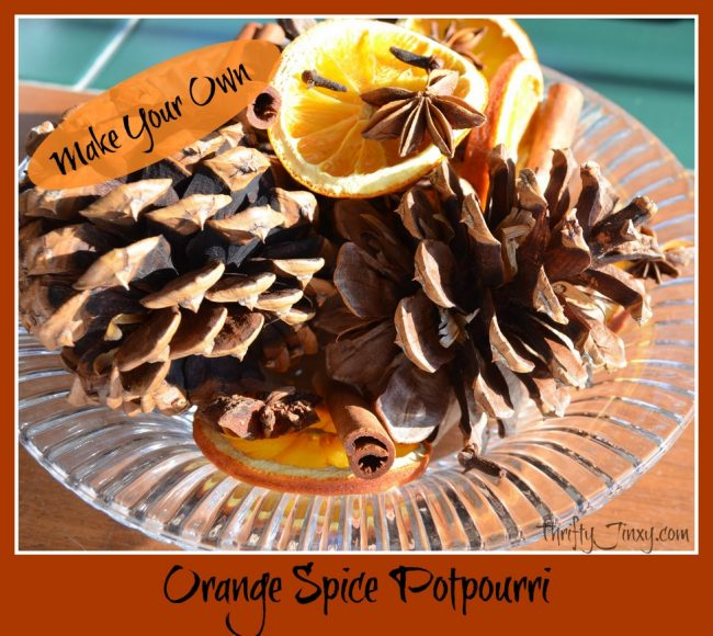 Orange Spice Potpourri from Thrifty Jinxy