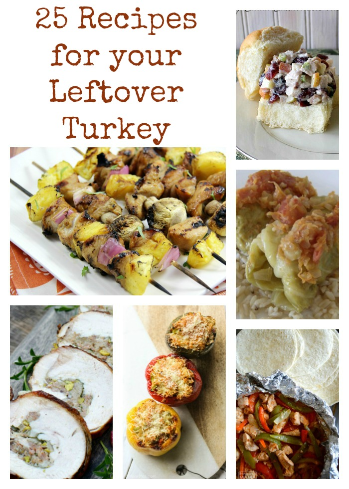 25 Recipes for Your Leftover Turkey as seen on JennsRAQ.com