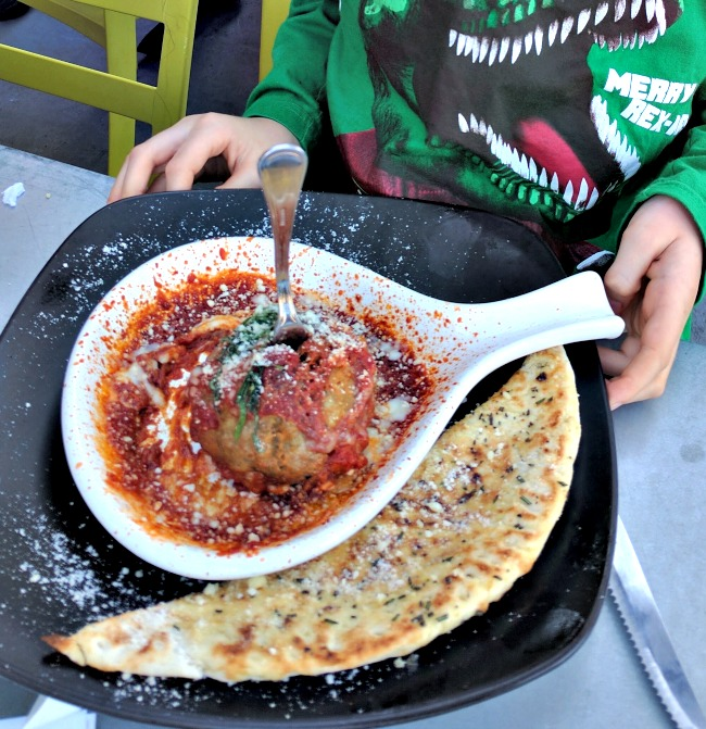 Mondo Meatball at Spin Pizza