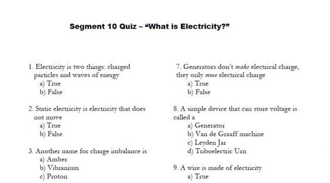 Physics 101 Guidebook Segment 10 Quiz