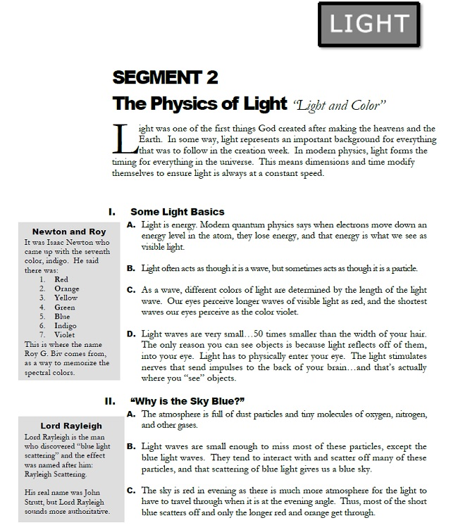 Physics 101 Guidebook from Segment 2