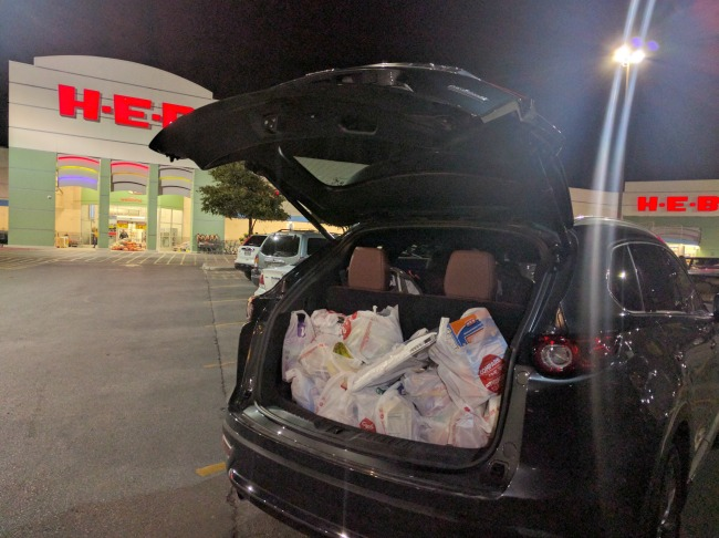 Plenty of room for groceries in the Mazda CX-9 Signature