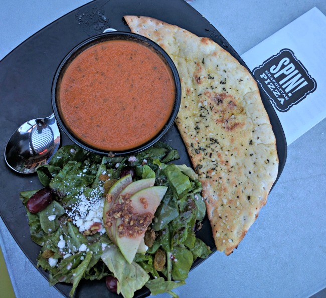 Soup and Salad at Spin Pizza Southlake