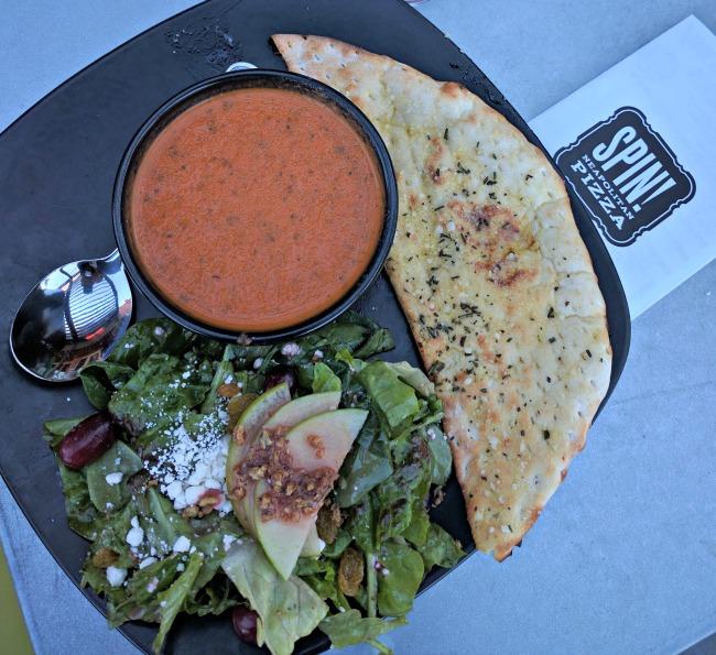 Soup and Salad at Spin Pizza Southlake