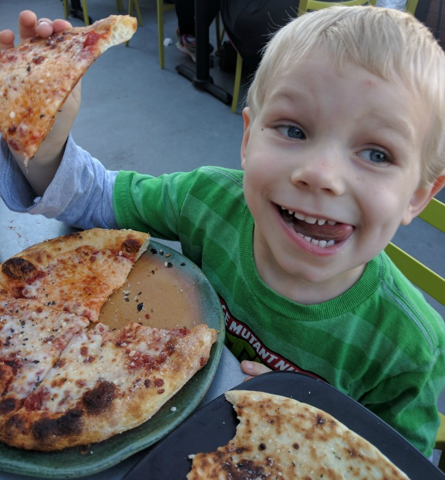Spin Pizza Cheese Pizza is a Crowd Pleaser
