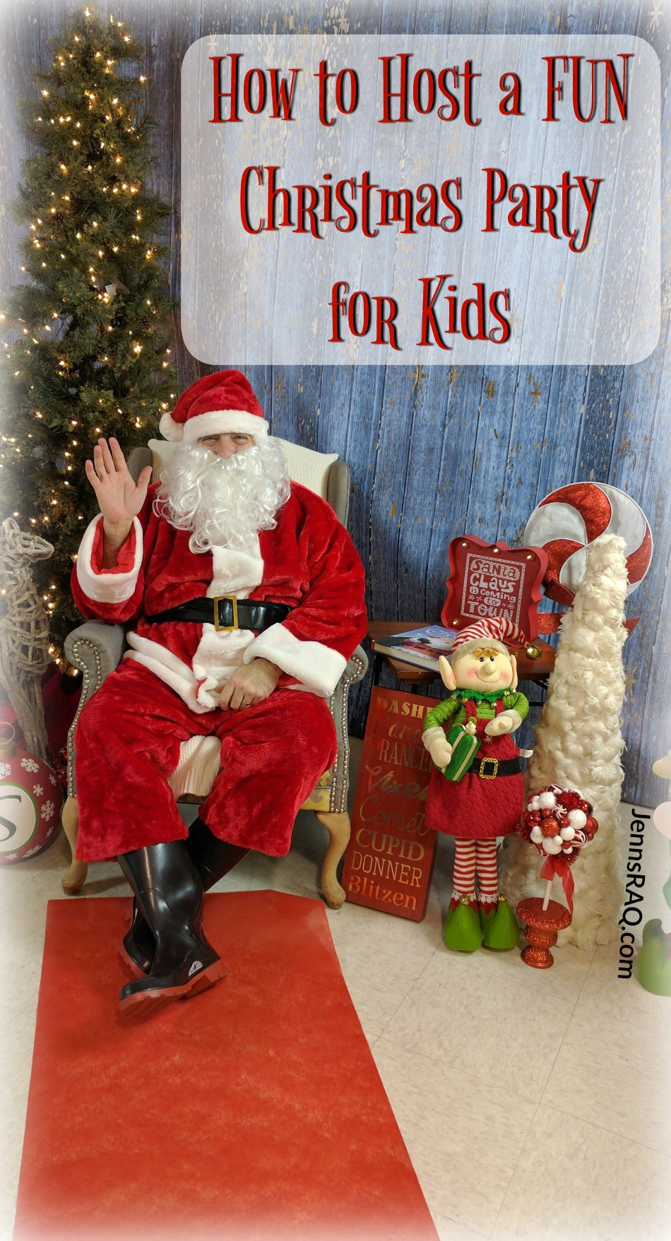 How to Host a FUN Christmas Party for Kids as seen on JennsRAQ.com