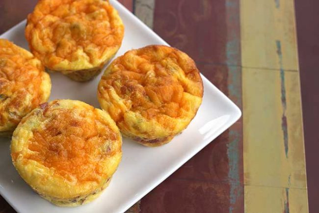 Bacon and Egg Muffins from Diabetic Foodie