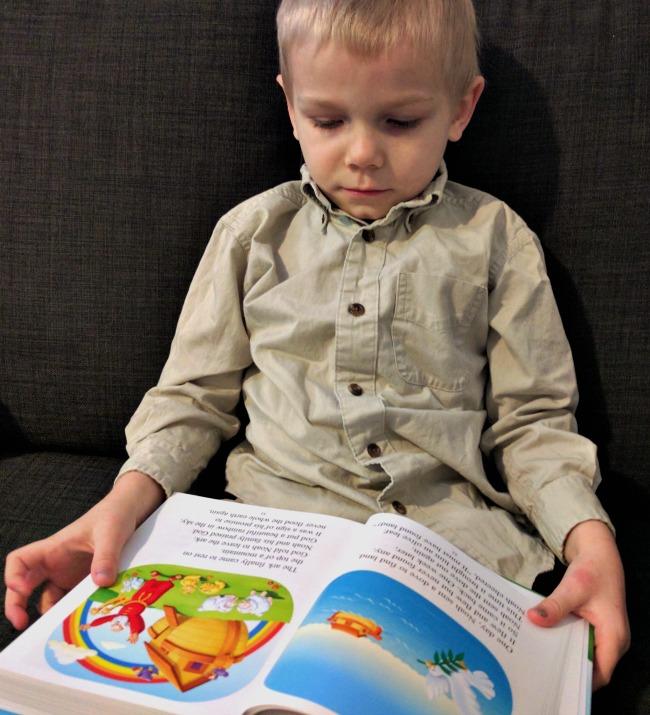 Charlie loves The Beginner's Bible